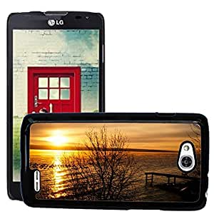 Super Stella Slim PC Hard Case Cover Skin Armor Shell Protection // M00148402 Lake Sunset Peer Sea Dusk Dawn // LG Optimus L90 D415