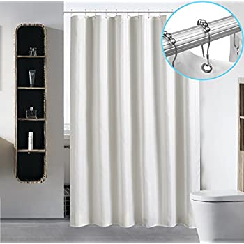 Waterproof Fabric Shower Curtain Liner By Hotel Quality Mildew Resistant  Washable Eco Friendly Sheer Polyester Damask