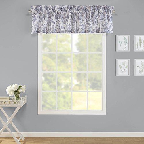 Laura Ashley Annalise Floral Window Valance Medium Grey