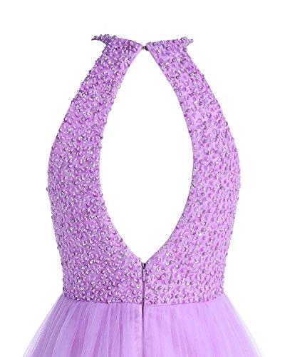 Bridesmay Keyhole Beading Homecoming Prom Short Coral Tulle Dress Dress Bridesmaid qgqZPr