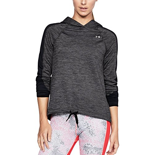 Under Armour Women's ColdGear Armour Pullover, Charcoal Full Heathe (019)/Metallic Silver, X-Large