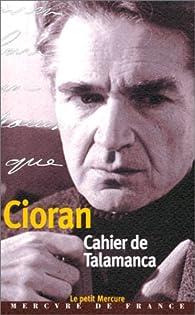 Cahier de Talamanca par Emil Cioran