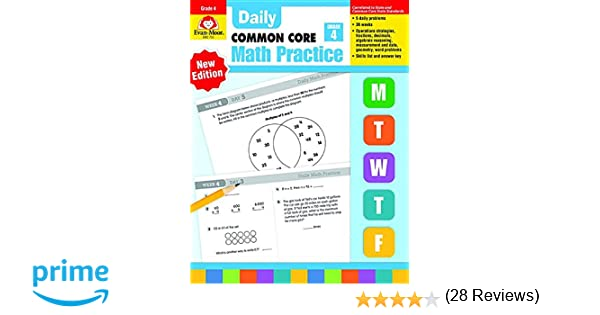 Daily Math Practice, Grade 4: Evan Moor: 8580001048512: Amazon.com ...