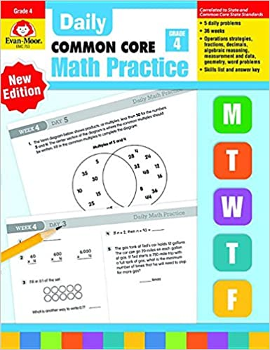 Math Worksheets common core 4th grade math worksheets : Daily Math Practice, Grade 4: Evan Moor: 8580001048512: Amazon.com ...