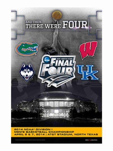 2014 Official NCAA March Madness Final 4 Teams Logos Basketball Print Poster (Ncaa Poster)