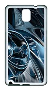 3D Abstract Hd TPU Custom Samsung Galaxy Note 3/Note III/N9000 Case and Cover - White