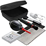 LS Photography Camera Lens Filter Cleaning Bundle Kit, Hard Shell Carry Case, Cleaning Pen Brush, Air Blower, Empty Spray Bottle, Cleaning Cloth Black & Gray, Alcohol Tissue Pack, Photo Studio, LGG528