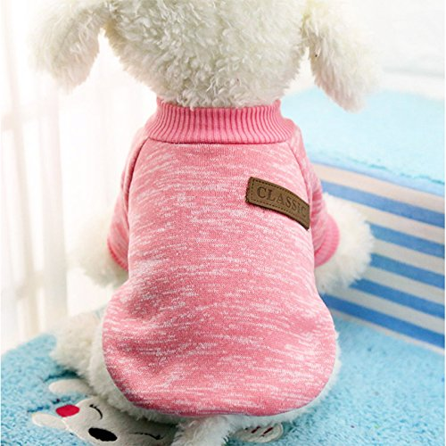 Zantec Ropa de perros Suéteres del perro, ropa caliente del perrito del animal doméstico, invierno suave chaquetas del...