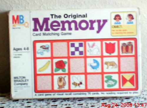 The Original Memory Game Milton Bradley 1980