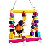 Rypet Bird Swing, Colorful Bird Chew toy...