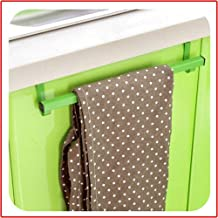 Dazzle color multi-function door back towel rack Non-trace nail hook free kitchen cabinets hang dishcloth