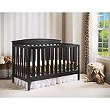 Delta Children's Gateway 4-in-1 Fixed-Side Crib, Black