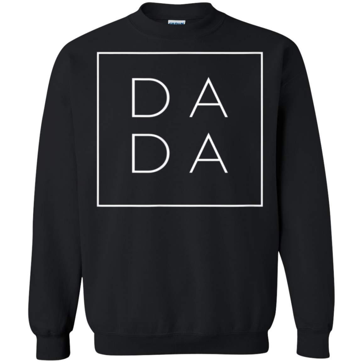 Funny Square Dada Shirt Idea For Dad Father Papa Grandpa Daddy Crewneck Pullover For
