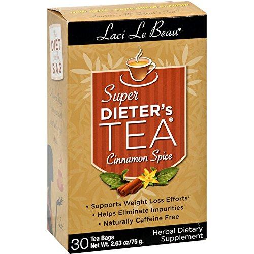 Laci Le Beau Super Dieters Cinnamon Spice Tea – 30 bags per pack – 6 packs per case.