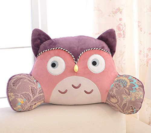"KSB 19"" Cute Soft Stuffed Plush Lumbar Cushion Support Pillow Doll For Home Use,The Great Kawaii Plush Cushions For Birthday Gifts-1 PCS (Purple Owl)"