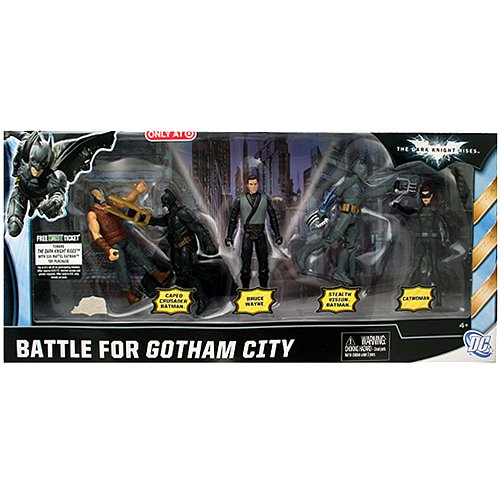 Batman The Dark Knight Rises Movie 3 3/4 Battle for Gotham City Action Figure 5-Pack Exclusive (Catwoman From The Dark Knight Rises)