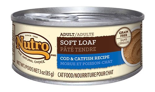 Nutro Adult Soft Loaf Cod And Catfish Recipe Canned Cat Food 3 Ounces (Pack Of 24) (Discontinued By Manufacturer)