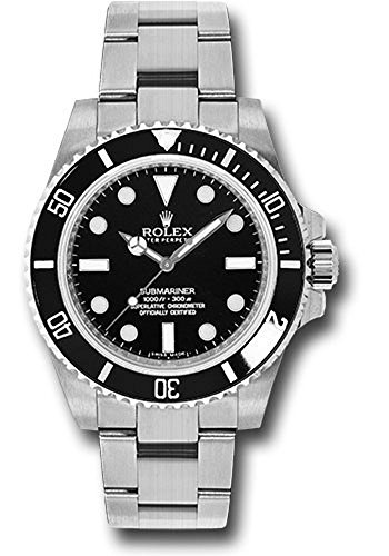 (Rolex Oyster Perpetual 40MM Stainless Steel Submariner With a Rotable Black Cerachrom time lapse Bezel And a Black Index)