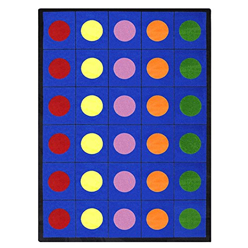 Educational Lots of Dots Kids Rug Rug Size: 7'8