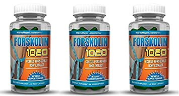 MaritzMayer Laboratories Forskolin 1020 Metabolic Support Weight Loss Formula 20 250mg 30 Capsules 3 Bottles