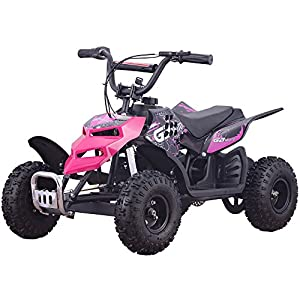 Four Wheelers For Kids 24V Pink Mini Quad ATV Dirt Motor Bike Electric Battery Powered