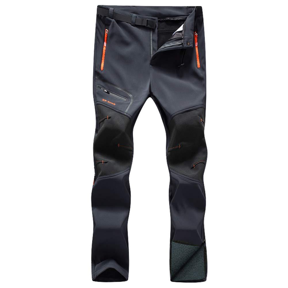 Gash Hao Womens Snow Ski Fleece Lined Waterproof Pants Winter Outdoor Snowboard Hiking Travel Softshell Pants