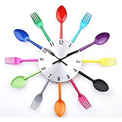 DIY Modern New Design Wall Clock Knife Fork Spoon Clocks Kitchen Kinves Home Decoration