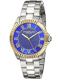 Stuhrling Original Women's 743.03 Vogue Audrey Shimmer Swiss Quartz Gold Tone Stainless Steel Bracelet Watch