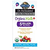 Garden Of Life Dr. Formulated Probiotics Organic Kids+ Berry Cherry Chewables, 30 Count, Berry Cherry
