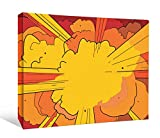 JP London DDCNV2097 Ready to Hang Feature Wall Art 2'' Thick Heavyweight Gallery Wrap Canvas Superman Comic Book Explosion At 60'' Wide by 40'' High