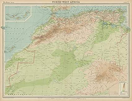 Amazon.com: North west Africa. Morocco &c. Sahara Desert