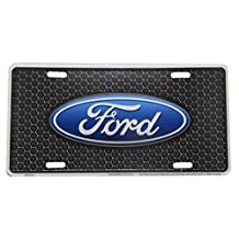 """Ford Detailed Black Honeycomb Background 6""""x12"""" Aluminum License Plate Tag"""