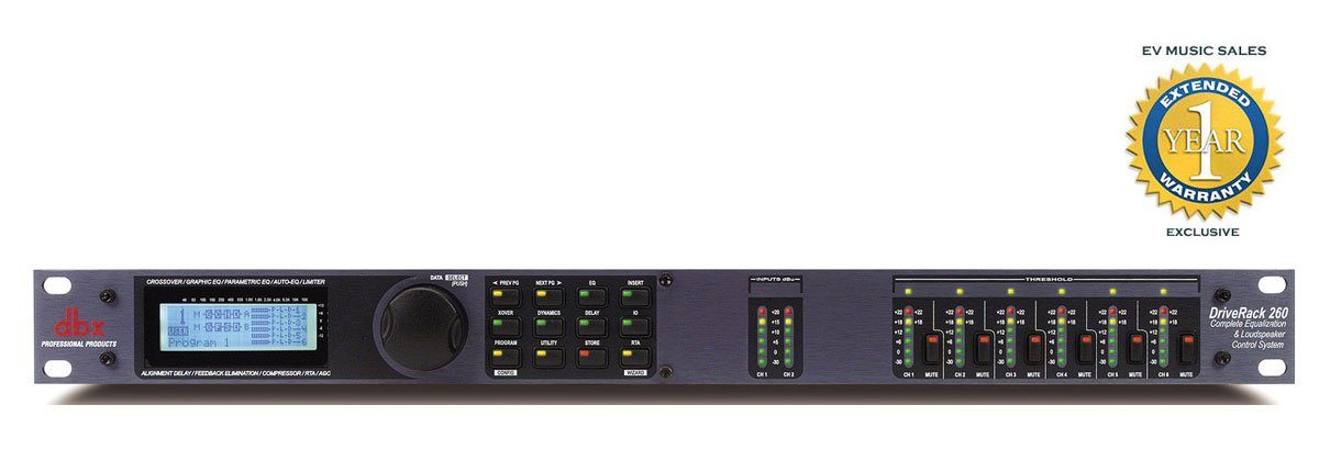 dbx DriveRack 260 Complete Equalization & Loudspeaker Control System with 1 Year Free Extended Warranty