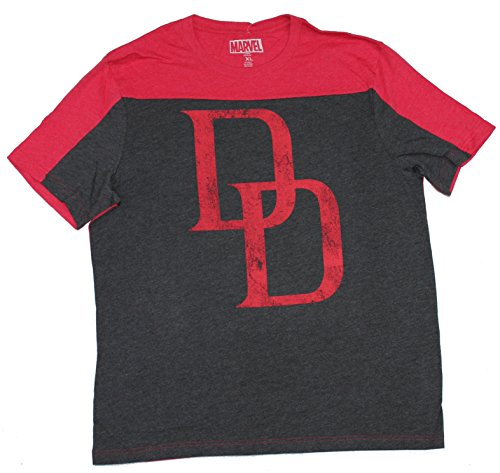 Hybrid Daredevil Logo Two-Tone Men's T-Shirt