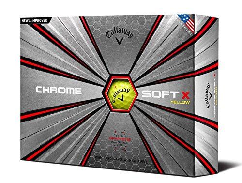 Callaway 2018 Chrome Soft X Golf Balls (One Dozen), Yellow (Tee Off Bag)