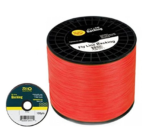 RIO Fly Line Backing, DACRON, 30 lb Test, Orange - 100, 150, 200, 250, 300, 400, 600 up to 5000 yds (2500 yds) (2400 yards) by Rio Brands