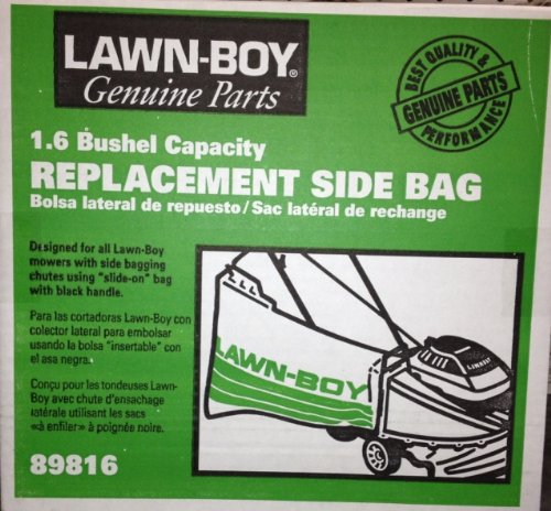 GENUINE OEM LAWNBOY PARTS AND ACCESSORIES - LB SIDE REPLACEMNET BAG NEW STYL 89816