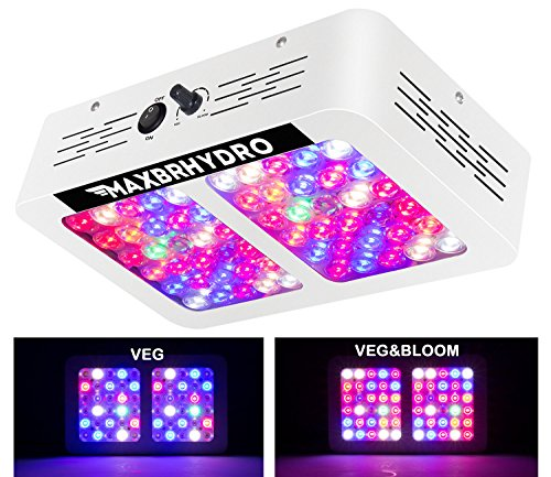 MAXBRHYDRO Dimmable 600W LED Grow Light,Newly Full Spectrum Plant Growing Light,Veg and Bloom Dimmers for Indoor Greenhouse Plants (Holiday Sales)