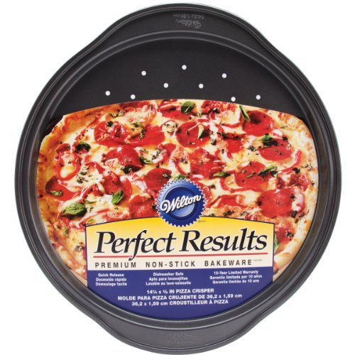 Wilton 2105-6804 Perfect Results Nonstick Pizza Crisper, 14.25 by (Non Stick Pizza Pan)