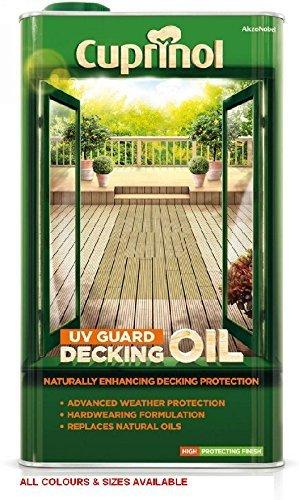 Cuprinol UV Guard Decking Oil Natural Pine 5L by Cuprinol (Cuprinol Natural)