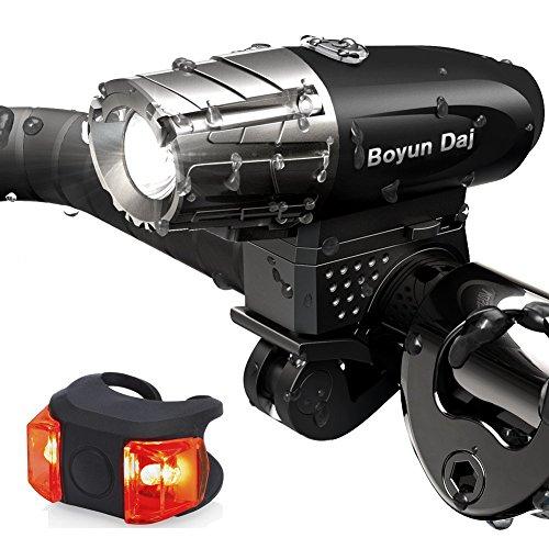 Gator 320 USB Rechargeable BikUSB Rechargeable Bike Light Set- Super Bright 400 Lumens Bike Headlight +120 Lumens, LED High Brightness Bike TAIL LIGHT. Easy Installation & WATER-RESISTANT LEFlashlight
