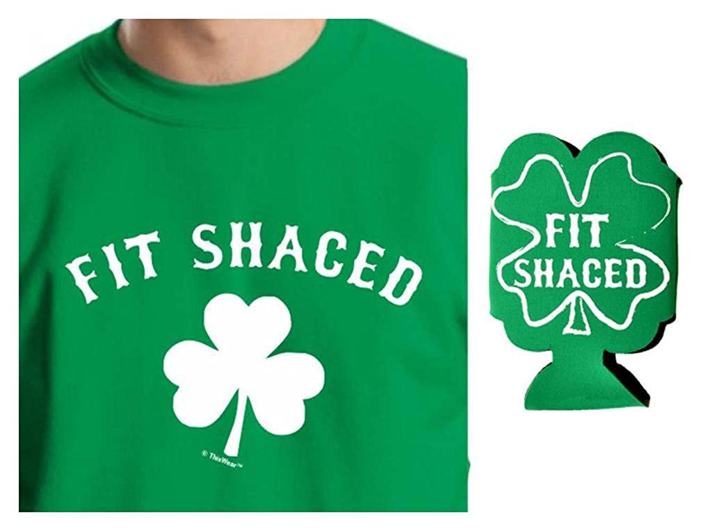 St Patricks Day Fit Shaced Crewneck Sweatshirt & Fit Shaced Can Coolie Bundle A-WXM-01C-Crwnck 18000