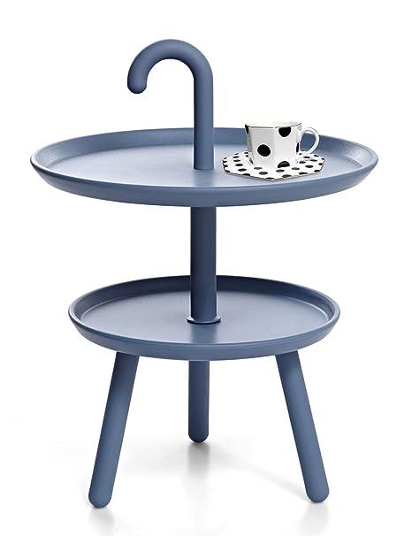 Tavolino Basso Esterno.Suhu Tavolino Tavoli Da Esterno Giardino Balcone Appoggio Salotto Bambini Basso Tavolini Da Caffe Portatile 2 Strati Moderno Design Rotondo Per