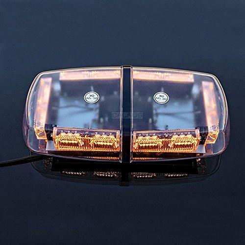 CALAUS 36 LED 18 Watts High Intensity Law Enforcement Emergency Hazard Warning LED Mini Roof Top Strobe Light Bar DC 12V with Magnetic Base - (3' Push Bar)