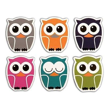 Kikkerland Owl Magnet, Set of 6