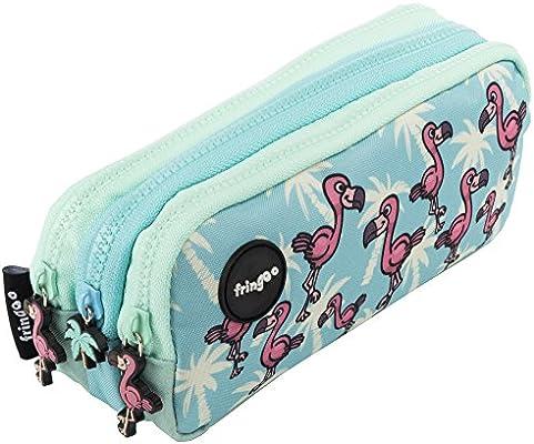 Estuche para lápices de 3 compartimentos FRINGOO, para niños, divertido y bonito, color Flamingo Paradise - 3 Compartments Large: Amazon.es: Oficina y papelería