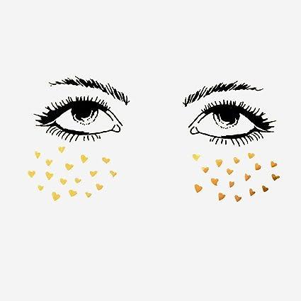 Cara Tattoo Sticker Adhesivo para Face Tattoo de ojos para rostro ...