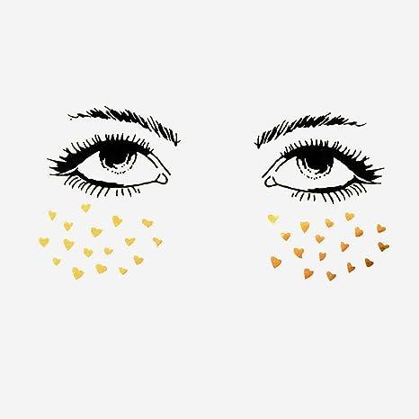Cara Tattoo Sticker Adhesivo para Face Tattoo de ojos para rostro, temporales Stickers Party Festival