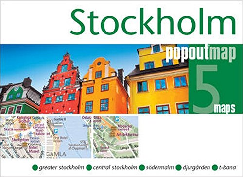 Stockholm PopOut Map: Handy, pocket size, pop-up map of Stockholm (PopOut Maps)