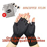 Arthritis Gloves 1 Pair, Compression Gloves Infused Copper for Women and Men, Relieve